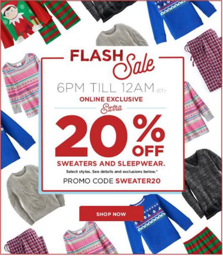kohls sweaters and sleepwear flash sale