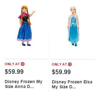 my size disney frozen anna elsa deal