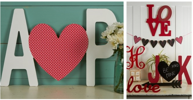 personalized letters with heart
