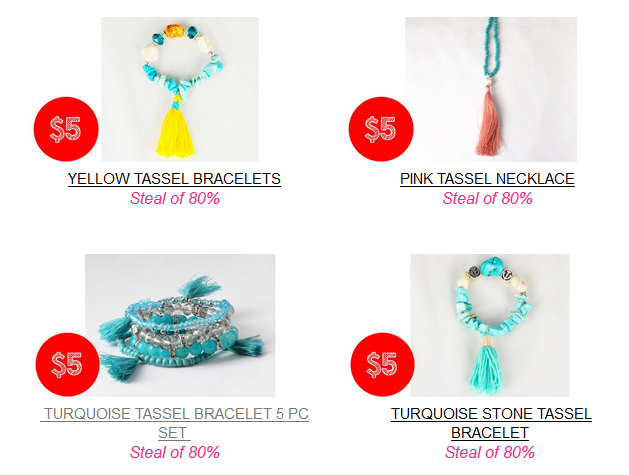 sassy steals $5 jewelry