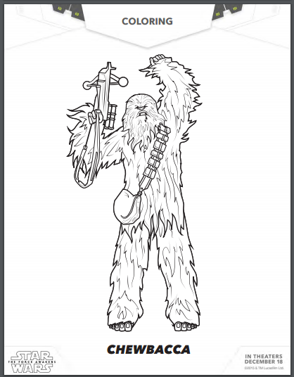 free star wars  the force awakens coloring pages and