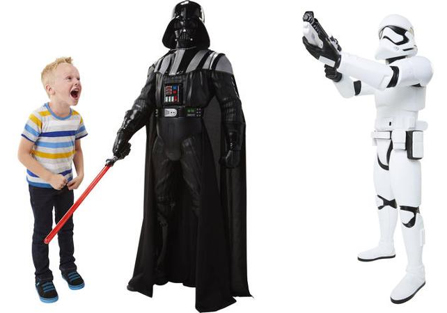 star wars classic darth vader and storm trooper battle buddy