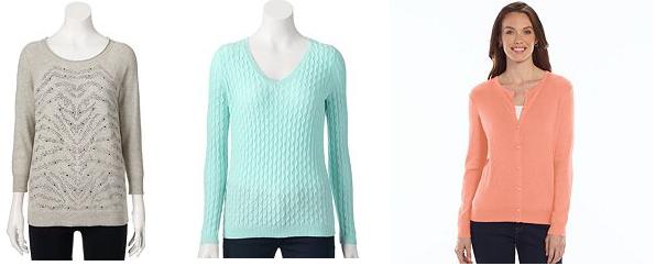 womens sweaters kohls