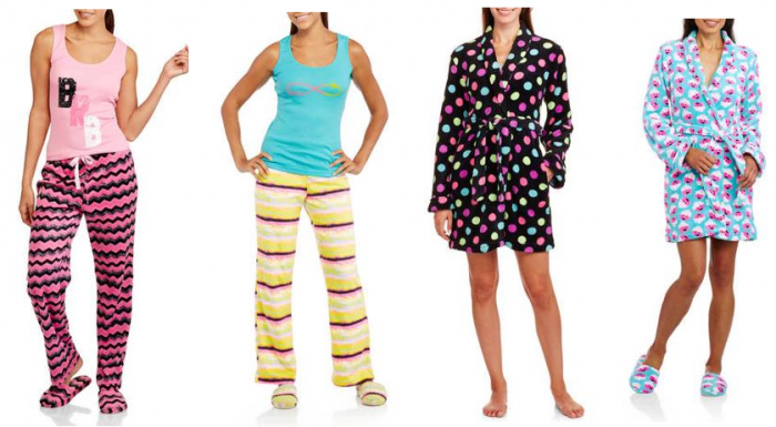 3-Piece Tank, Pant and Slipper Sleepwear Gift Sets for $8.97, Slipper & Robe Sets $5.88
