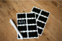 6 Chalkboard Labels and Chalk Pen