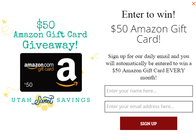 Amazon Gift Card Email Giveaway