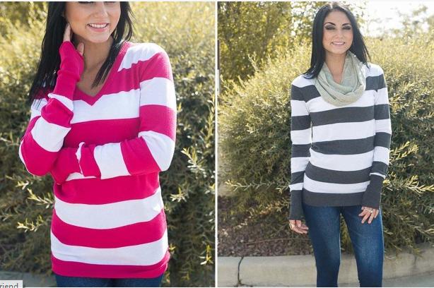 Bold Stripe Sweater