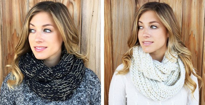 Clearance Braided Infinity Scarf