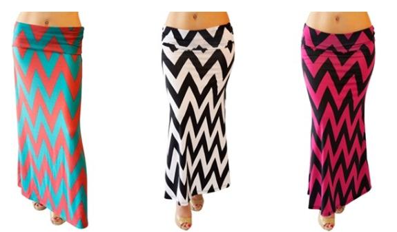 Cute Chevron Maxi Skirt