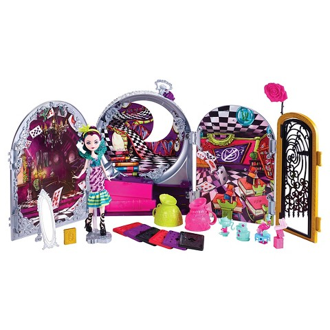Ever After High Way Too Wonderland High Playset with Raven Queen Doll