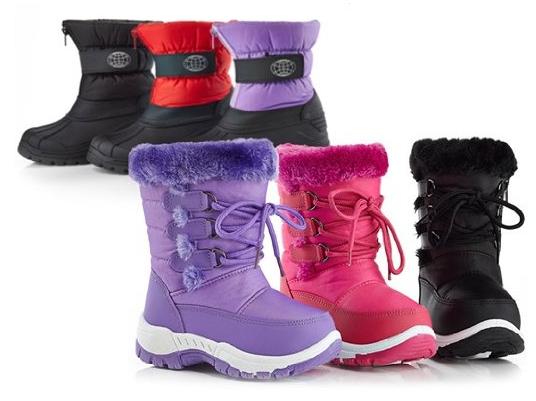 Fun Club Kids' Waterproof Snow Boots