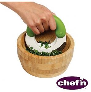 Herb'n Shears Herb Chopper and Bamboo Bowl Set