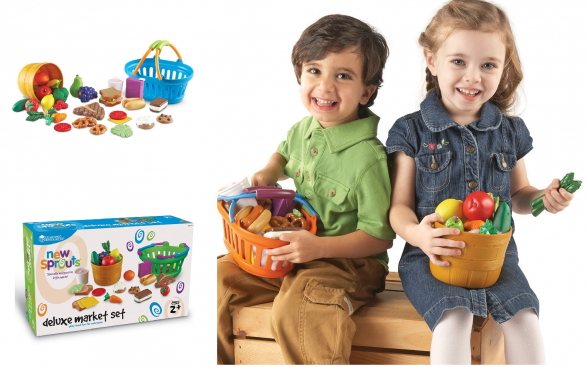 Learning Resources New Sprouts Deluxe Market Set, 32-Piece