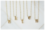 Lowercase Gold Tone Initial Necklaces