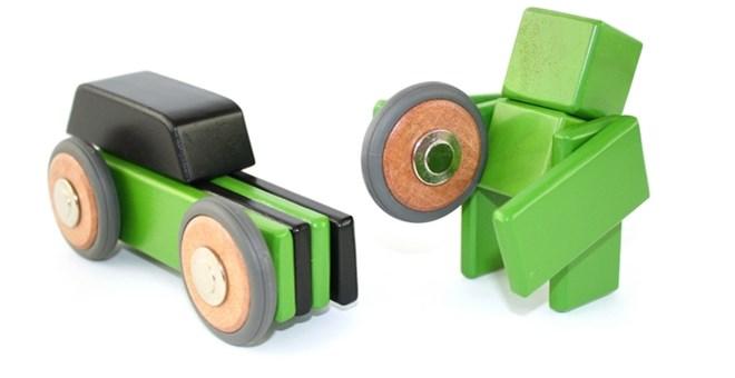 Magnetic Wooden Car