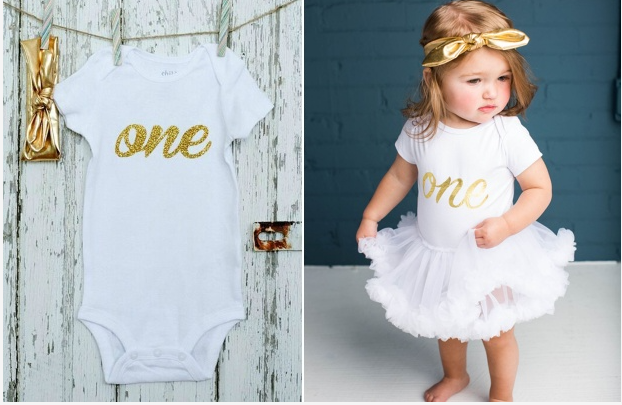 One Birthday Onesie & Headwrap Set