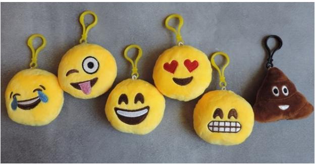 Plush Emoji Keychains