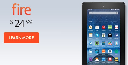 Kindle Fire $24.99 email offer