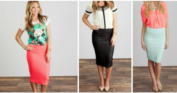 Spring Quilted Pencil Skirts
