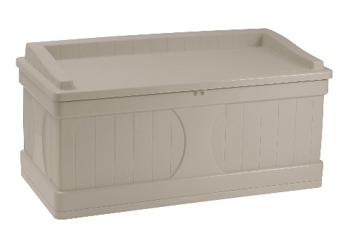 Suncast Deck Box with Seat Taupe - 99 Gallon