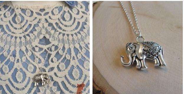 Trendy Elephant Pendant Necklaces