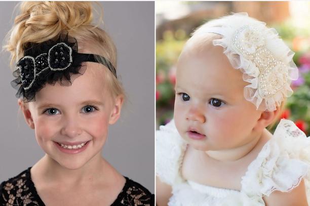 Vivian Ruffle Bow Headband