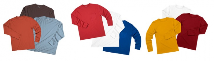 Zorrel Men's & Women's Long Sleeve Tees 3-Packs