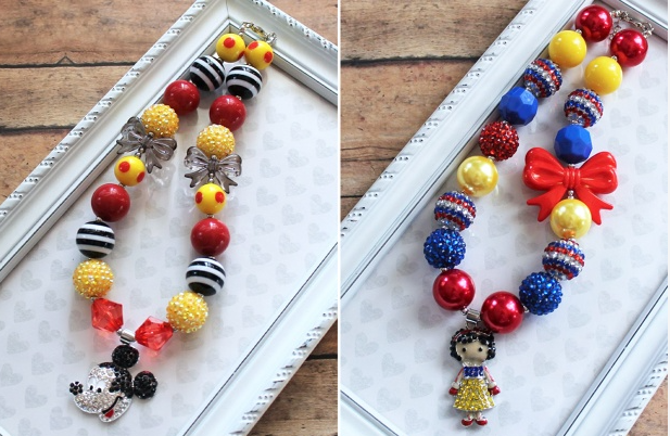 disney bubble gum necklaces