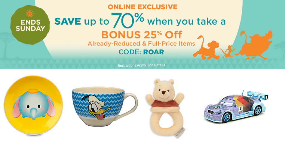 disneystore bonus roar code