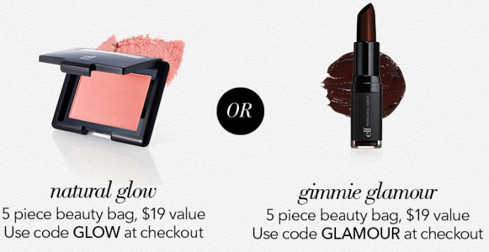 e.l.f. Cosmetics FREE $19 Value Gimme Glamour or Natural Glow Mystery Bag