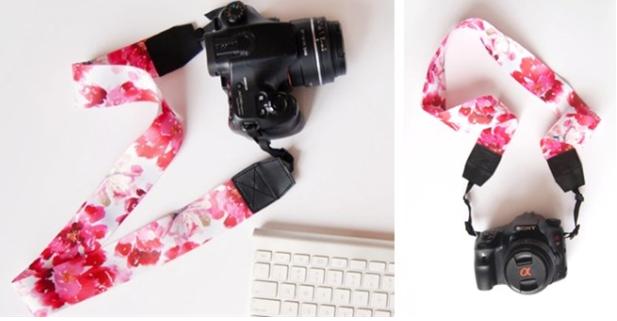 floral camera holder