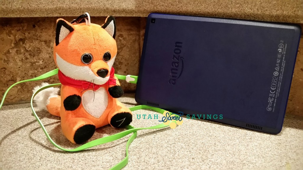 fox with kindle