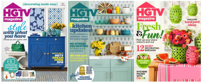 Extended* HGTV Magazine for $7 50/Year, Just $0 75 Per Issue