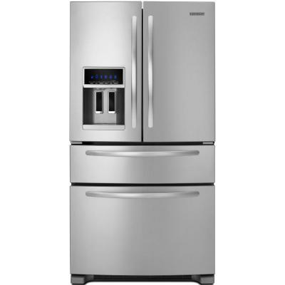 kitchenaid 24.5 cu. ft. French Door Refrigerator in Monochromatic Stainless Steel