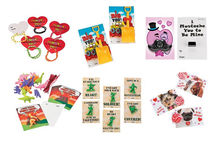 oriental trading company vday card kits