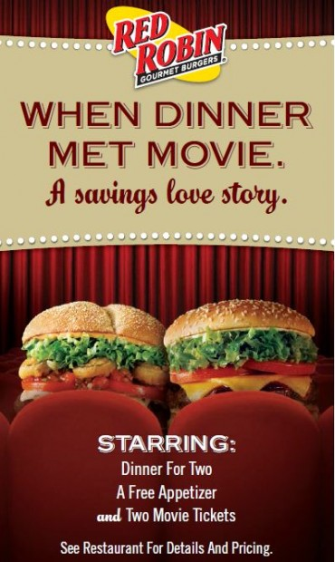 red robin dinner and a movie