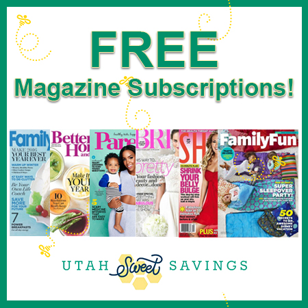 utah sweet savings free magazine subscriptions