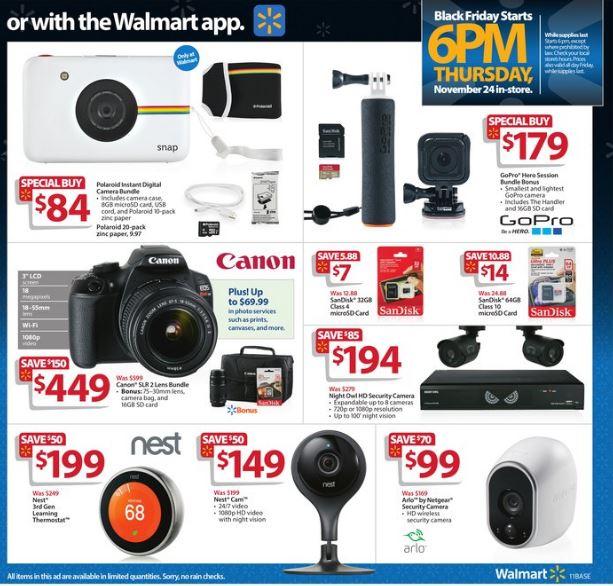 Walmart black friday digital camera deals