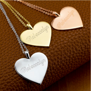18-Karat Gold Plated Personalized Heart Necklace