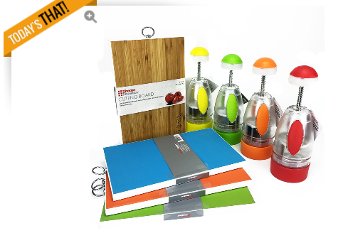 2 Piece  Bamboo Cutting Board and Multi-Purpose Chopper Set