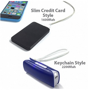 4 pack of Portable Rechargeable Power Banks