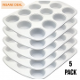 5 Pack of 12 Cup Ceramic Coated Cupcake Muffin Pans