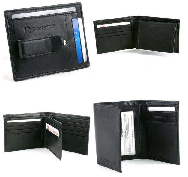 AlpineSwiss Men's Leather Wallet
