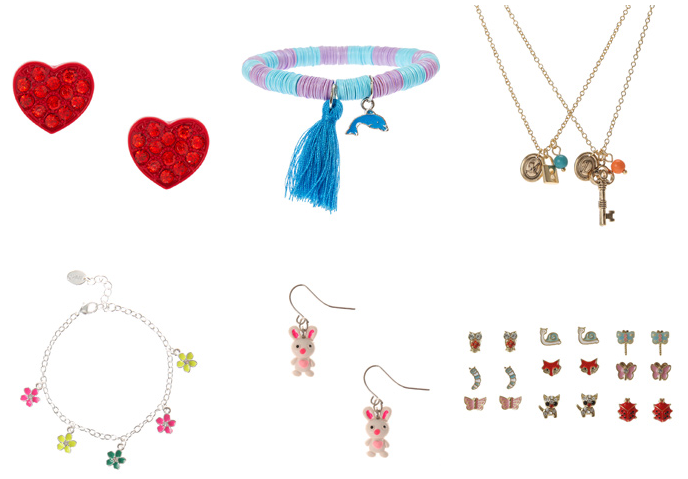 Claire's $3 and $5 Hair, Jewelry and Cosmetics