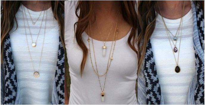 Fashionable Layers necklaces