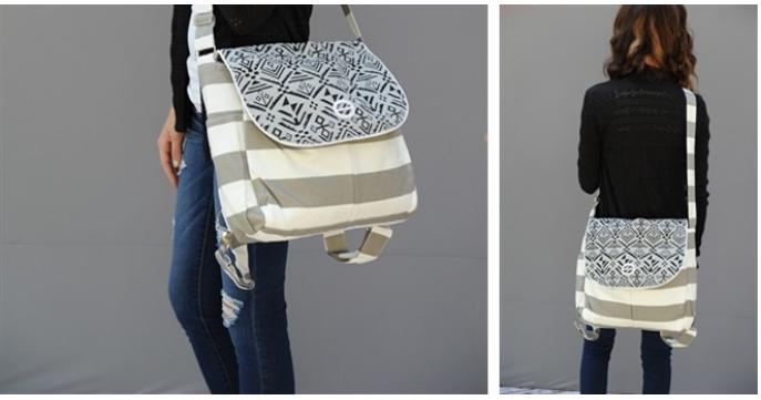 Geometric Multi Use Bag