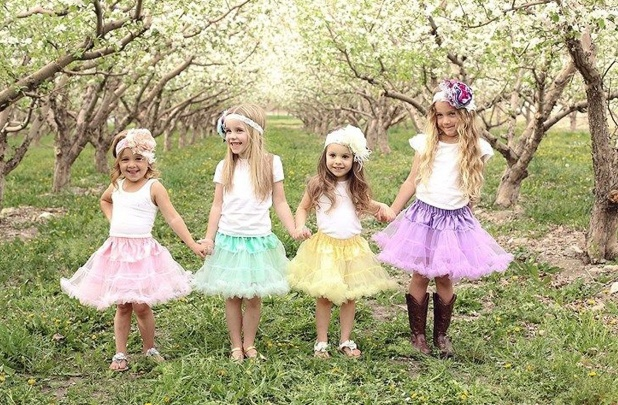 Girl's Spring Petti Skirts