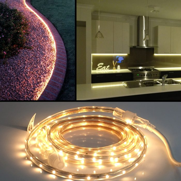 Heavy Duty 13 Foot Linkable Warm White Led Rope Light