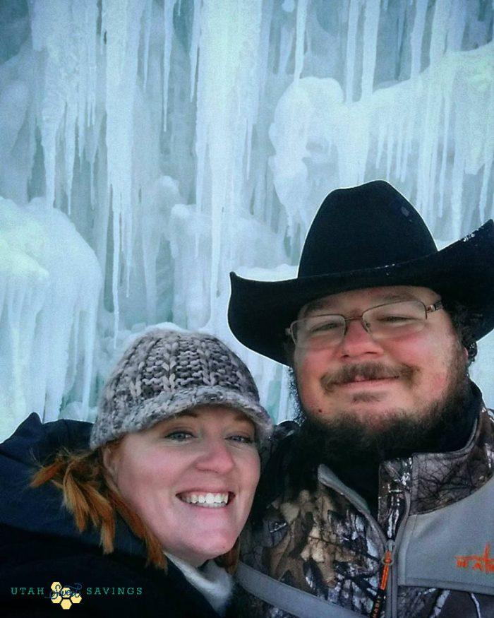 Ice castle selfie