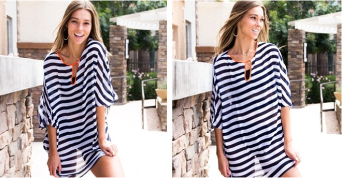 Loose Fit Striped Cover Up
